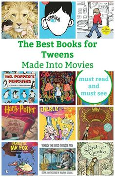 Read the book or watch the movie? These are the best books for tweens that were made into equally awesome movies. Have fun reading and watching. BONUS: We included a list of fave teen books made into movies. Good Books For Tweens, Movies For Tweens, Books For Tween Girls, Teen Movies, Great Books, Teen Books, Childrens Books, Family Movies, Books That Are Movies