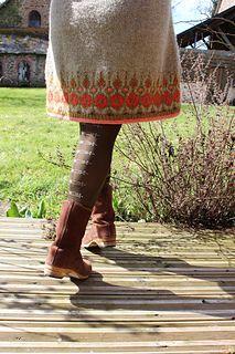 Ravelry: Telja pattern by Jennifer Steingass Jumper Patterns, Knitting Patterns, Knitting Ideas, Knit Dress, Dress Skirt, Icelandic Sweaters, I Cord, Knit In The Round, Fair Isle Knitting