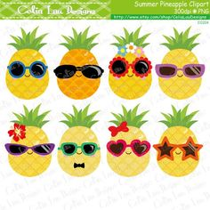 Pineapple Clipart Cute Pineapple Clip Art by CeliaLauDesigns Beach Clipart, Summer Clipart, Food Clipart, Pineapple Clipart, Cute Pineapple, Pineapple Craft, Clip Art Pictures, Cute Fruit, Kid Crafts