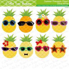 Pineapple Clipart Cute Pineapple Clip Art by CeliaLauDesigns Beach Clipart, Summer Clipart, Food Clipart, Pineapple Pictures, Cute Pineapple, Pineapple Craft, Pineapple Clipart, Pineapple Tattoo, Kid Crafts