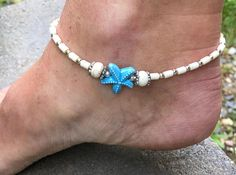 Beach Anklet Starfish Anklet Beach Jewelry Beaded Anklet Ankle Bracelet Anklet Ankle Jewelry Beach Wedding Anklet Anklets For Womans - Anklet - Ideas of Anklet - Beach Anklet Starfish Anklet Beaded Anklet Ankle Bracelet Ankle Jewelry, Body Jewelry, Feet Jewelry, Summer Jewelry, Beach Jewelry, Anklet Bracelet, Beaded Bracelets, Starfish Bracelet, Jewelry Accessories