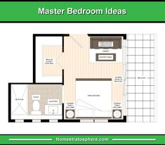 En-suite Bathroom and Walk-In Closet at the Left Side with a Three-Seater Sofa and Center Table Facing the Bed and a Sliding Door at the Right Side Leading to the Balcony Master Bedroom Plans, Master Bedroom Layout, Small Master Bedroom, Bedroom Floor Plans, Bedroom Layouts, Bathroom Layout, Bedroom Ideas, Master Room, Master Bedrooms
