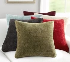 Rayon Chenille Pillow Cover | Pottery Barn