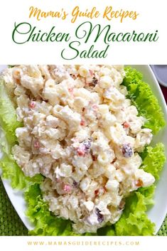 Want to know the secret to the best homemade chicken macaroni salad. Exactly, just like how your mom makes it. Chicken Macaroni Salad Filipino, Chicken Macaroni Recipe, Macaroni Pasta, Easy Salad Recipes, Chicken Salad Recipes, Pasta Recipes, Cooking Recipes, Salad Chicken, Chicken Sandwich