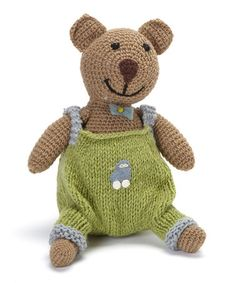 Take a look at this Green Wool Teddy Bear by Én Gry & Sif on #zulily today! $34 !!