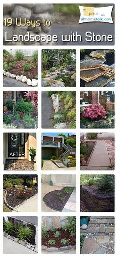 19 Ways to Landscape With Stone! My kids are always bring home rocks. A way to put them to use.