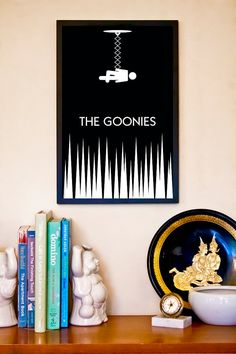 Iconographic Cult Movie Poster // The Goonies // 11x17 Minimalist Fantasy Art Print