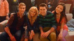 Lindy (Olivia), Logan (Austin), Jasmine (Piper), and Garrett (Peyton) on I Didn't Do It