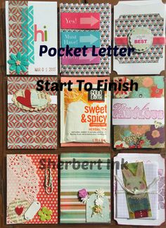 Pocket Letter by Sherbert Ink  See blog or Youtube for video. :)