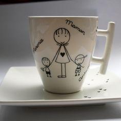 . Tasse avec sous-tasse personnalisée