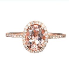 Solid 14K Rose Gold Oval Cut 6x8mm Morganite(Fancy Pink,VS) Halo 0.23ctw Round Cut Diamonds(H-SI) Fashion Engagement Ring LOGR-Morganite Rings,http://www.amazon.com/dp/B00F91QP1S/ref=cm_sw_r_pi_dp_IpVWsb0MRTB2ZGZN