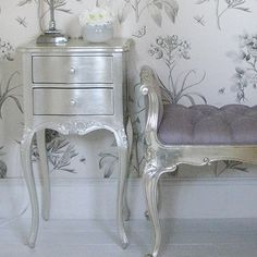 Silver Double Nightstand