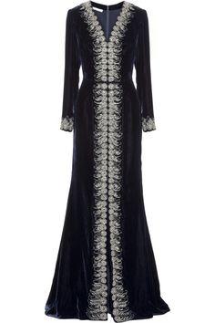 f8592807a5 Oscar de la Renta - Embellished velvet gown