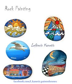Rock Painting by Lefteris Kanetis. Find me on Pinterest at https://gr.pinterest.com/LefterisKanetis/                    Find me on Facebook at  https://www.facebook.com/L.kanetis.paintedstones