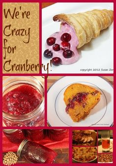 Fall perfect Cranberry Recipes- We're Crazy For Cranberry! via Love in the Kitchen