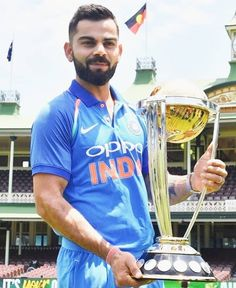 Can Virat bring home the World Cup Trophy? India Cricket Team, Cricket Bat, Cricket Sport, Cricket World Cup, Cricket Poster, Cricket Games, Virat Kohli Instagram, Virat And Anushka, World Cup Trophy