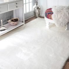 Shop for nuLOOM Faux Flokati Sheepskin Solid Soft and Plush Cloud Shag Rug (7'6 x 9'6). Get free shipping at Overstock.com - Your Online Home Decor Outlet Store! Get 5% in rewards with Club O!