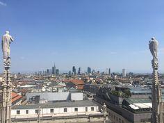 Il nuovo Centro Direzionale visto dalle guglie del Duomo - 4 luglio 2017
