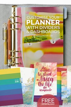 Customise Your Planner with Dividers and Dashboards { + free download }