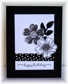 Scrappin' and Stampin' in GJ flowers are stamp/punch from SU stem/leaves are SU Field Flowers, maybe can use SU Morning Meadow or Flower Shop. Punch with SU Pansy Punch. Colors are daffodil and coastal cabana. Birthday Cards For Women, Handmade Birthday Cards, Happy Birthday Cards, Stamping Up Cards, Card Sketches, Sympathy Cards, Creative Cards, Flower Cards, Cute Cards