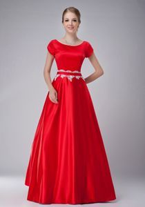 cap sleeve modest red bridesmaid dresses - Google Search