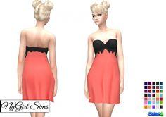 Sheer Lace Cocktail Dress at NyGirl Sims via Sims 4 Updates