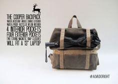 Pansy Maiden Vegan Bags - The Cooper Backpack, Rustic Tan
