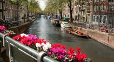 Interviews with two au-pairs in Spanish along Amsterdam canals: Learn a language abroad for free!