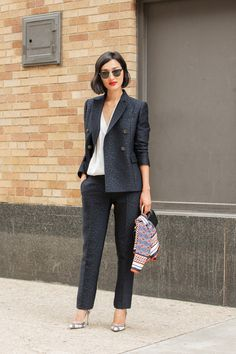 The NYFW Street Style Looks That Truly Stunned #refinery29  http://www.refinery29.com/2014/09/73987/new-york-fashion-week-2014-street-style-photos#slide11  A sharp suit that'll promote your look.