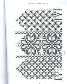 Selbuvotter - Biography of a Knitting Tradition (book) - Monika Romanoff - Picasa Web Albums Mittens Pattern, Knit Mittens, Mitten Gloves, Knitting Charts, Knitting Patterns, Knitting Ideas, Fair Isle Chart, Scandinavian Pattern, Fiber Art
