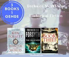 Recommending 3 books in one genre. Here three historical fiction books based on World War II are recommended.