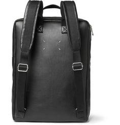 Maison Martin Margiela - Leather and Felt Backpack|MR PORTER