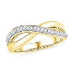 10K Yellow-gold 0.11CTW DIAMOND FASHIO BAND