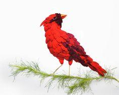 Птицы из цветочных лепестков