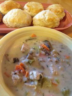 Crockpot creamy pheasant wild rice soup