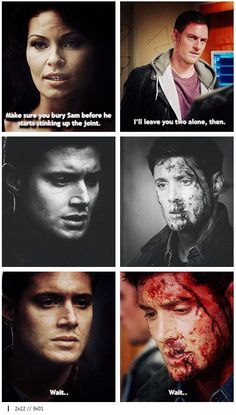 """All Hell Breaks Loose (Part Think I'm Gonna Like It Here - Episode Parallels – """"Wait. Supernatural Quotes, Spiritus, Winchester Boys, Super Natural, Castiel, Superwholock, Best Shows Ever, Pop Culture, Fangirl"""