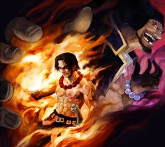Portgas D. Ace vs. Blackbeard One Piece