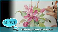 Using Watercolor Glazing Techniques – Floral Botanical