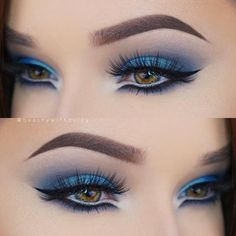 Tutorial makeup: purple and turquoise eyes - .-Tutorial Make-up: Violette und Türkise Augen – Tutorial makeup: purple and turquoise eyes – up # Turquoise - Blue Eye Makeup, Eye Makeup Tips, Mac Makeup, Smokey Eye Makeup, Makeup Inspo, Eyeshadow Makeup, Makeup Art, Beauty Makeup, Makeup Ideas