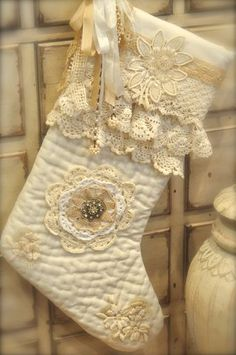 vintage lace stocking , jeanette tea groves you will like this its so you !