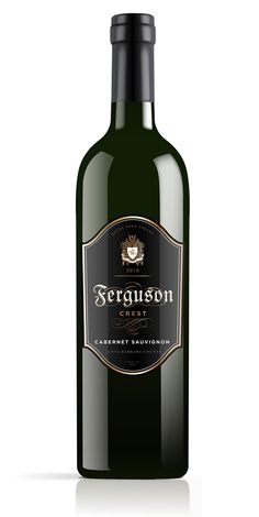 FergusonCrest - The Dieline - Fergie's wines...need to check these out.