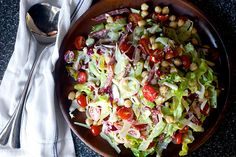 nancy's chopped salad:  I'm pretty sure this is the best salad ever because it tastes exactly like an Italian sub