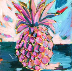 """Pineapple Print"" by Laura Dro"