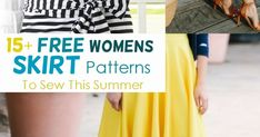 Free skirt patterns for you with detailed sewing instructions to make your own summer skirt. Great sewing projects for every skill level.