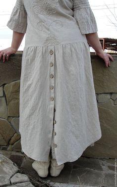 Купить Бохо платье с подъюбником - серый, Бохо платье, платье стиль бохо