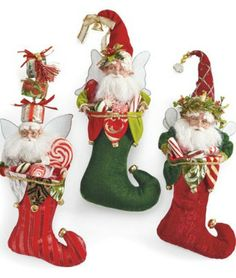 Santa stocking fairies add magic to the holiday season