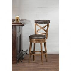 Bring a handsome addition to your breakfast bar or counter height dining table with Hillsdale Furniture Glen Cove Pine Swivel Counter Stool. Rustic Bar Stools, Swivel Counter Stools, Counter Height Dining Table, Dining Room Bar, Bar Furniture, Dining Room Furniture, Furniture Removal, Classic Furniture, Furniture Outlet