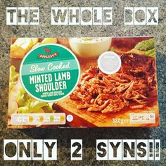 From Aldi minted lamb shoulder. Aldi Slimming World Syns, Slimming World Meal Prep, Slimming World Shopping List, Slimming World Fakeaway, Slimming World Syn Values, Slimming World Recipes Syn Free, My Slimming World, Aldi Syns, Slimming World Puddings