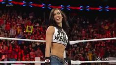 AJ Lee returns to attack Nikki and Brie Bella on WWE RAW  (March 2, 2015)