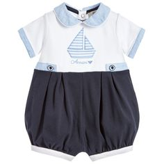 e3f83faa2f84 Armani Baby Boys Blue Shortie at Childrensalon.com Loafers Outfit, Loafer  Shoes, Asian
